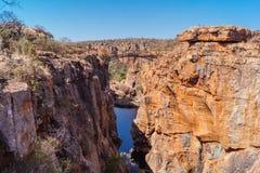 Gropar i Bourkes lycka, Sydafrika arkivfoto