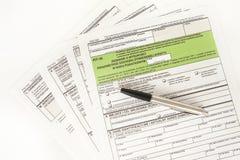 GROPförklaring - polskt skattdokument Arkivbilder