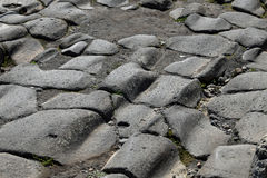 Gropig gata, Pompeii arkeologisk plats, nr Mount Vesuvius, Italien Royaltyfria Bilder