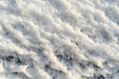 Gropig snö för grov textur Arkivfoton