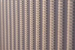 Gropigt metallstaket Arkivfoto