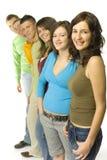 Gropu dos adolescentes Imagens de Stock Royalty Free