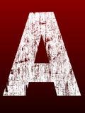 Gros alphabet grunge A Photos stock