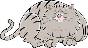 Gros chat paresseux illustration stock