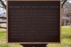 Gros coups île, la Virginie - 28 mars 2018 : La NASA rosse le centre du ` s de visiteur Photo libre de droits