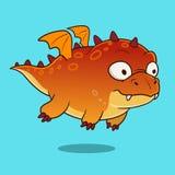 Gros dragon de monstre de bande dessinée mignonne Photographie stock