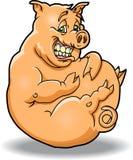 Gros et heureux porc Image libre de droits