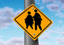 Gros gosses obèses de poids excessif d'obésité d'écoliers Photos libres de droits