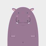 Gros grand hippopotame mignon Illustration Libre de Droits