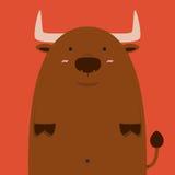 Gros grand taureau mignon de l'Espagne Illustration Libre de Droits