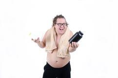 Gros homme à un régime Image stock