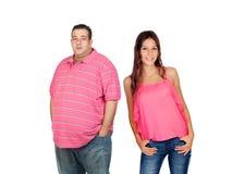 Gros homme avec la femme mince photo libre de droits