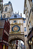 Gros horloge, Rouen, France Stock Photos