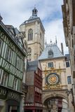 Gros-Horloge, Rouen. View on The Gros-Horloge. An astronomical clock in Rouen, France Stock Photos