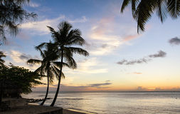 Gros Islet Beach at sunset, Saint Lucia Royalty Free Stock Photo