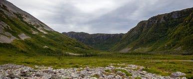 Gros Morne góry dolina obraz stock
