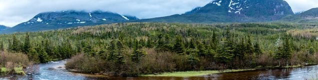 Gros Morne Mountain, Gros Morne National Park, Newfoundland, Can. Ada royalty free stock images