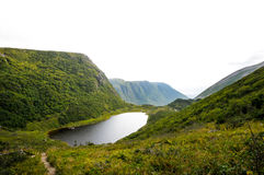 Gros Morne National Park. Hiking down Gros Morne Mountain Stock Image