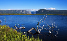 Gros Morne National Park, Newfoundland. View from Jennys Pond toward Western Brook Pond fjord, Gros Morne National Park, Newfoundland and Labrador, Canada, a Stock Images