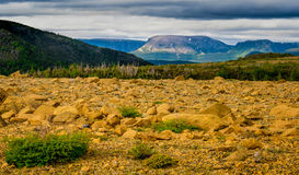 Gros Morne, Newfoundland, Canda. A view from the Tablelands hiking trail in Gros Morne National Park, western Newfoundland, a UNESCO World Heritage Site in the Stock Images