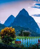 Gros Pitons close up royalty free stock photography