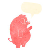 gros porc de bande dessinée avec la bulle de la parole Image libre de droits