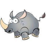 Gros rhinocéros de dessin animé Photo libre de droits