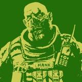 Gros soldat de zombi Illustration de vecteur illustration de vecteur