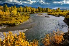 Gros Ventre flod Arkivbilder