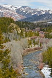 Gros Ventre river and wilderness. Gros Ventre wilderness in late afternoon, spring Royalty Free Stock Photography