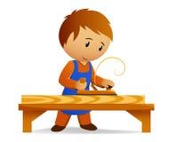Grosa do carpinteiro dos desenhos animados a placa Fotografia de Stock