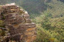 Grose谷在蓝山山脉澳大利亚 免版税库存图片