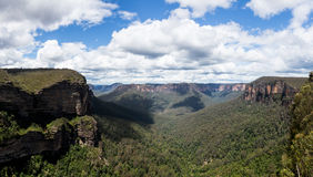 Grose谷在蓝山山脉澳大利亚 免版税库存照片