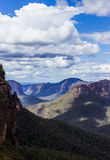 Grose谷在蓝山山脉澳大利亚 库存图片