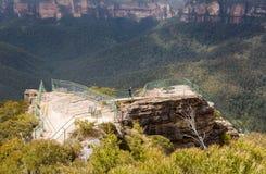 Grose dal i blåa berg Australien Arkivbilder