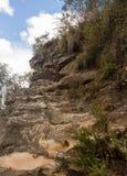 Grose dal i blåa berg Australien arkivfoton