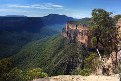Grose Valley Blue Mountains Australia. Views of Grose Valley in the Blue Mountains National Park NSW Australia with views to Mt Banks on the northern side Royalty Free Stock Photo