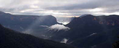 Grose Valley at sunrise Stock Photos