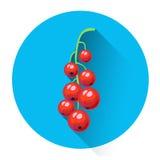 Groseille rouge Berry Icon coloré Image libre de droits