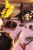 Groseilles et pain de raisin sec secs Photo libre de droits