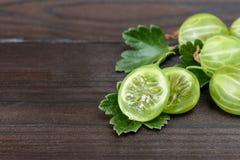 Grosellas espinosas frescas Foto de archivo