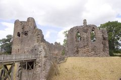 Grosmont Castle. The Remains of Grosmont Castle in South Wales stock image