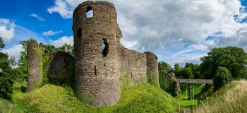 Grosmont Castle in South Wales stock image
