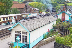 Grosmont station from the bridge Royalty Free Stock Image