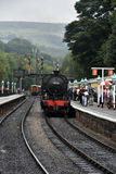 Grosmont station and steam train Royalty Free Stock Photos