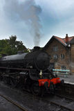 Grosmont station and steam train Royalty Free Stock Image