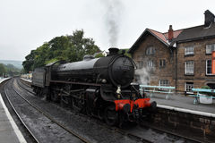 Grosmont station and steam train Stock Image