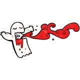 Gross bloody ghost cartoon Stock Image