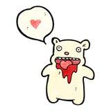 Gross bloody polar bear cartoon Stock Image