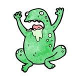 Gross cartoon frog Stock Photo